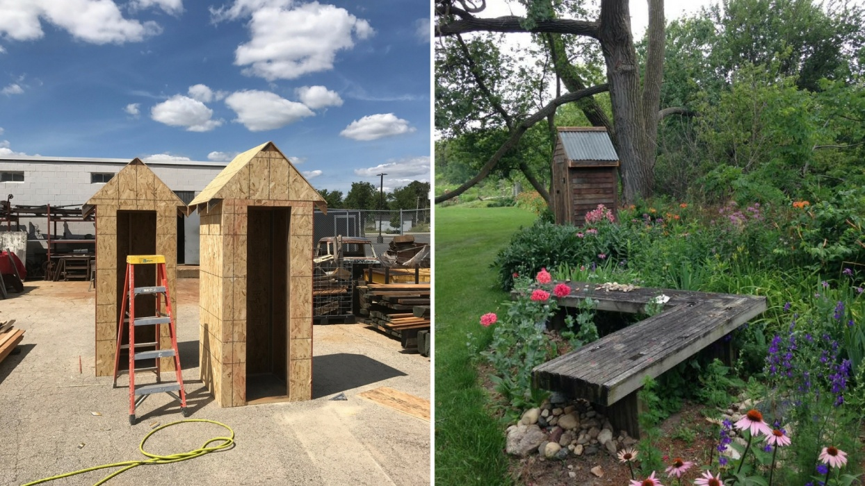 Reclaimed Wood Garden Shed